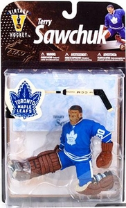 McFarlane Toys NHL Sports Picks Legends Series 8 Action Figure Terry Sawchuk (Toronto Maple Leafs) Blue Jersey