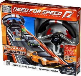 Need For Speed Mega Bloks Set #95716 Porsche 911 Turbo Wheel Launcher