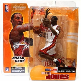 McFarlane Toys NBA Sports Picks Series 3 Action Figure Eddie Jones (Miami Heat) White Jersey Variant
