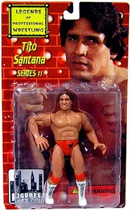 Legends of Professional Wrestling Action Figure Series 11 Tito Santana BLOWOUT SALE!