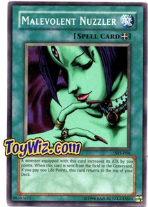 YuGiOh American Yugi Evolution Deck Single Cards SYE-036 Malevolent Nuzzler