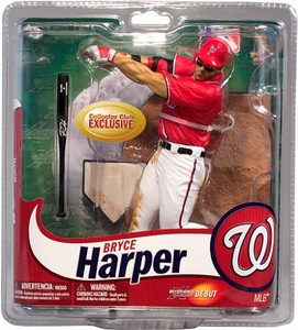 McFarlane Toys MLB Sports Picks Collectors Club Exclusive Action Figure Bryce Harper (Washington Nationals) Red Jersey & Eye Black