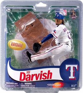 McFarlane Toys MLB Sports Picks Collectors Club Exclusive Action Figure Yu Darvish (Texas Rangers) White Uniform