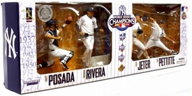 McFarlane Toys MLB Sports Picks Exclusive New York Yankees 2009 World Series Champions Action Figure 4-Pack Derek Jeter, Jorge Posada, Andy Pettitte & Mariano Rivera