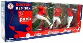 McFarlane Toys MLB Sports Picks Exclusive Action Figure 3-Pack Manny Ramirez, Jonathan Papelbon & J.D. Drew (Boston Red Sox)