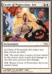 Magic the Gathering Arena Promo Card Circle of Protection Art [Arena Unhinged]