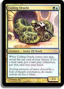 Magic the Gathering Arena Promo Card Coiling Oracle [Arena 2006]