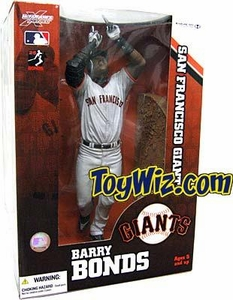 McFarlane Toys MLB Sports Picks 12 Inch Deluxe Action Figure Barry Bonds (San Francisco Giants) Gray Jersey Variant