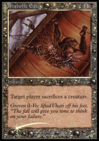 Magic the Gathering Arena Promo Card Diabolic Edict [Arena 2001]