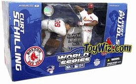 McFarlane Toys MLB Sports Picks 2004 World Series Action Figure 2-Pack Curt Schilling (Boston Red Sox) & Albert Pujols (St. Louis Cardinals)