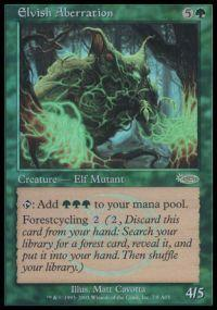 Magic the Gathering Arena Promo Card Elvish Aberration [Arena 2003]
