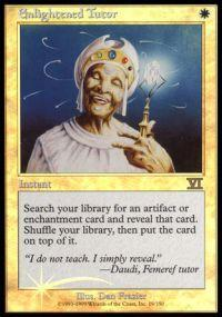 Magic the Gathering Arena Promo Card Enlightened Tutor [Arena 2000]