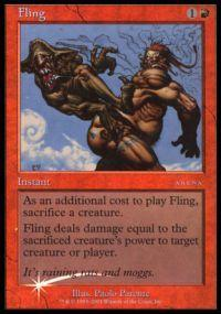 Magic the Gathering Arena Promo Card Fling [Arena 2001]