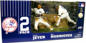 McFarlane Toys MLB Sports Picks Exclusive Action Figure 2-Pack Derek Jeter & Alex Rodriguez (New York Yankees) 3000 Hits!!!