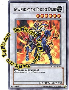 YuGiOh 5D's 2008 Starter Deck Single Card Super Rare 5DS1-EN042 Gaia Knight, The Force of Earth BLOWOUT SALE!