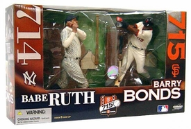 McFarlane Toys MLB Sports Picks Action Figure 2-Pack Barry Bonds (San Francisco Giants) & Babe Ruth (New York Yankees) Please Read Notes Before Purchasing!