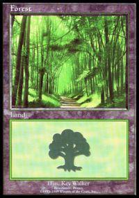 Magic the Gathering APAC & Euro Lands Promo Card Forest [Euro Set 2]