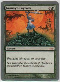 Magic the Gathering Arena Promo Card Grannys Payback [Arena Unhinged]