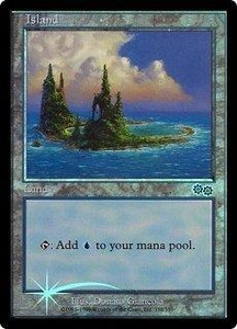 Magic the Gathering Arena Promo Card Island [Arena 1999]