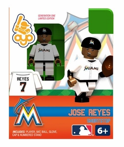 OYO Baseball MLB Building Brick Minifigure Jose Reyes [Miami Marlins]