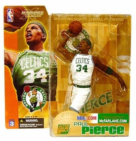 McFarlane Toys NBA Sports Picks Series 3 Action Figure Paul Pierce (Boston Celtics) White Jersey Variant