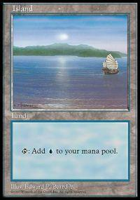 Magic the Gathering APAC & Euro Lands Promo Card Island [APAC Set 1]