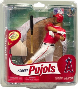 McFarlane Toys MLB Sports Picks Series 30 Action Figure Albert Pujols (Los Angeles Angels) Red JErsey