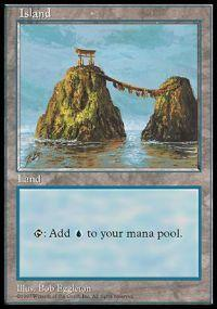 Magic the Gathering APAC & Euro Lands Promo Card Island [APAC Set 2]