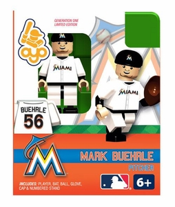 OYO Baseball MLB Building Brick Minifigure Mark Buehrle [Miami Marlins]
