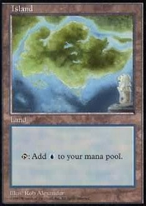 Magic the Gathering APAC & Euro Lands Promo Card Island [APAC Set 3]
