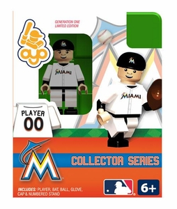OYO Baseball MLB Building Brick Collector Series Minifigure Player 00 [Miami Marlins]