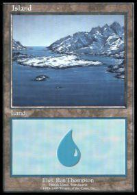 Magic the Gathering APAC & Euro Lands Promo Card Island [Euro Set 1]