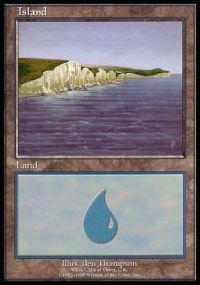 Magic the Gathering APAC & Euro Lands Promo Card Island [Euro Set 3]