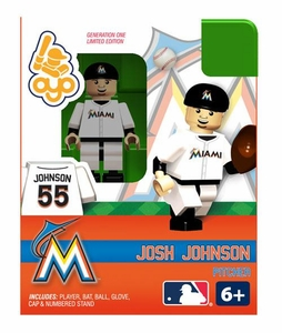 OYO Baseball MLB Building Brick Minifigure Josh Johnson [Miami Marlins]