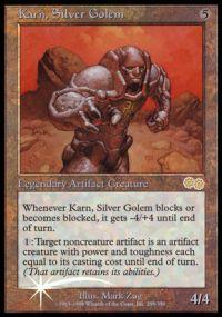 Magic the Gathering Arena Promo Card Karn, Silver Golem [Arena 1999]