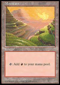 Magic the Gathering APAC & Euro Lands Promo Card Mountain [APAC Set 1]