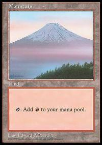 Magic the Gathering APAC & Euro Lands Promo Card Mountain [APAC Set 3]