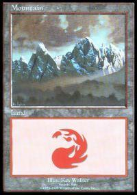 Magic the Gathering APAC & Euro Lands Promo Card Mountain [Euro Set 1]