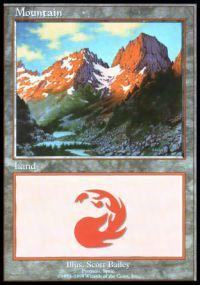 Magic the Gathering APAC & Euro Lands Promo Card Mountain [Euro Set 2]