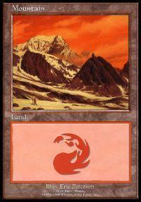 Magic the Gathering APAC & Euro Lands Promo Card Mountain [Euro Set 3]