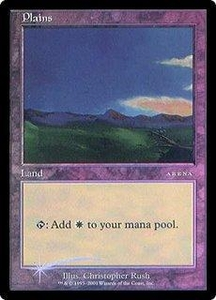Magic the Gathering Arena Promo Card Plains [Arena 2001]