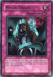 YuGiOh Pharaoh's Servant Single Card Rare PSV-071 Magic Drain