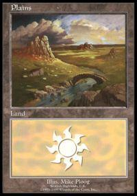 Magic the Gathering APAC & Euro Lands Promo Card Plains [Euro Set 1]