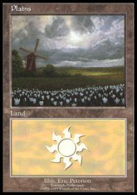 Magic the Gathering APAC & Euro Lands Promo Card Plains [Euro Set 2]