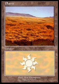Magic the Gathering APAC & Euro Lands Promo Card Plains [Euro Set 3]