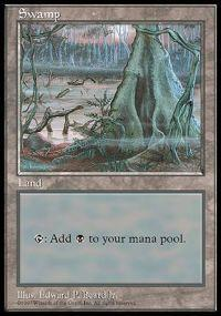 Magic the Gathering APAC & Euro Lands Promo Card Swamp [APAC Set 1]