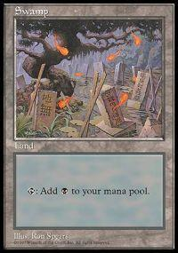 Magic the Gathering APAC & Euro Lands Promo Card Swamp [APAC Set 2]