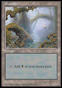 Magic the Gathering APAC & Euro Lands Promo Card Swamp [APAC Set 3]