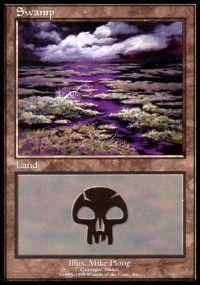 Magic the Gathering APAC & Euro Lands Promo Card Swamp [Euro Set 3]