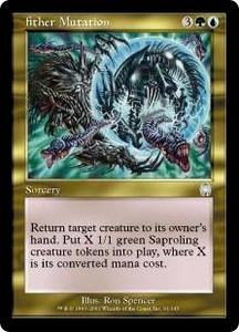 Magic the Gathering Apocalypse Single Card Uncommon #91 AEther Mutation